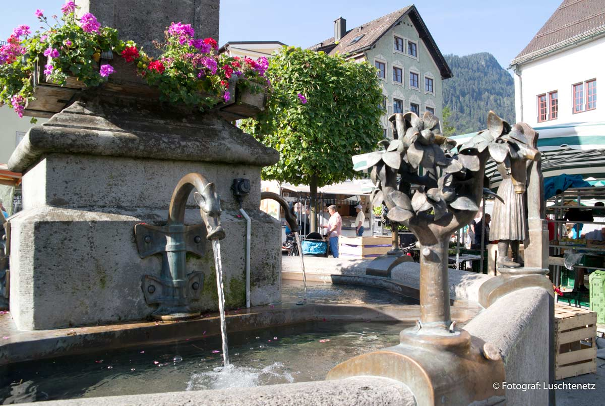 Brunnen am Marienplatz in Immenstadt